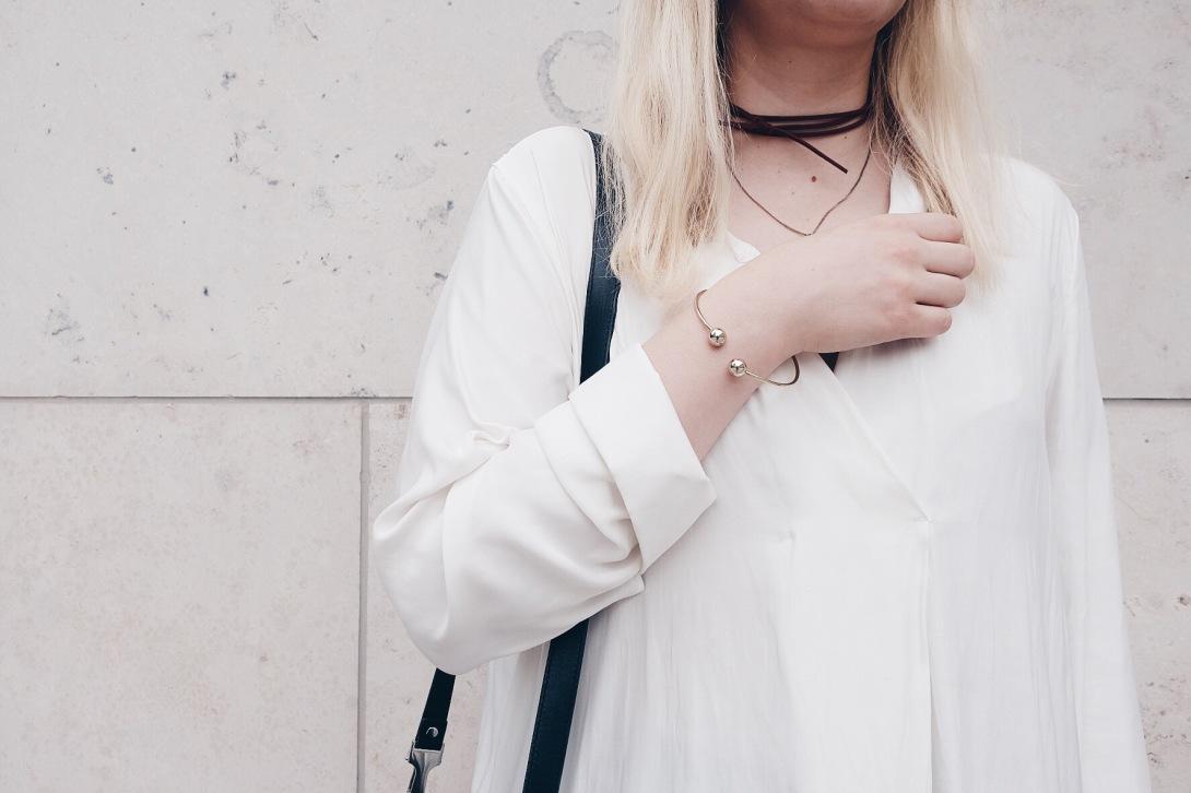 Blogger, Details, Bracelet, Chocker, Necklace, Minimalsim, Outfit, Details
